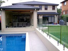 modern pool fencing design