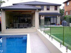 modern pool fencing design
