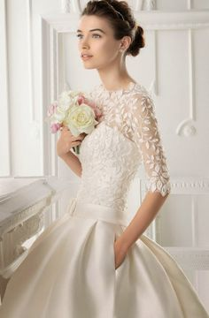 15 gorgeous Winter Wedding Dresses | bellethemagazine.com make the skirt less poofy, and i'd like this for a winter wedding