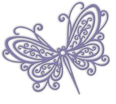 Impression Obsession Open Scroll Butterfly DIE253-U