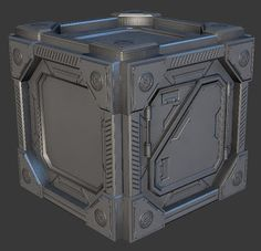 crate scifi 3d modeling