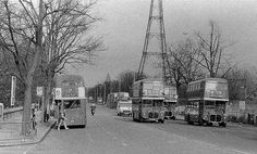 Interesting how the traffic helps date the pic, i so often try to cut it out Routemasters at Crystal Palace