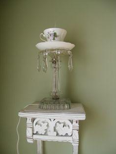 Pollyanna Reinvents: Trash to Treasure: Tea (Cup) Light!