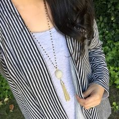 The Funky Monkey Blog - White Druzy Necklace Review and Pics!