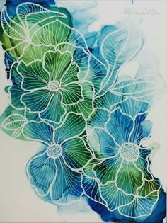 96 DIY Abstract Alcohol Ink Art Ideas – Usefull Information Alcohol Ink Crafts, Alcohol Ink Painting, Alcohol Ink Art, Abstract Watercolor, Watercolor And Ink, Watercolor Paintings, Silk Painting, Painting & Drawing, Dibujos Zentangle Art