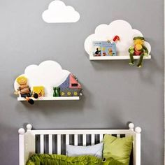prateleira nuvem mdf decoração infantil bebê nicho fret grat