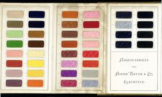 German dye sample book, 1896