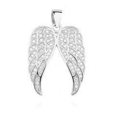 Stříbrný přívěsek se zirkony - křídla Brooch, Jewelry, Fashion, Jewellery Making, Moda, Jewelery, Brooches, Jewlery, Fasion