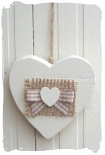 "Heart... a little bit of burlap on anything makes it ""farmland fantastic"" !"