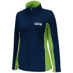 Seattle Seahawks Ladies Game Theory Full Zip Jacket - College Navy