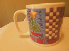 Christmas Spirit Majesticware 1999 X-Mas Stoneware Mug Holiday Multi-Color #ChristmasSpiritMajesticware