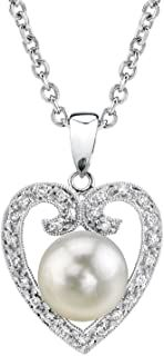 18K Gold Round White South Sea Cultured Pearl & Diamond Heart Shaped Pendant Necklace for Women #necklacependantgold #pendantdiy #pendantjewelry #pendantnecklacediy #pendantnecklacediamond #necklacependantdiamond #pendantwhitegold #pendantnecklace #diyjewelrypendant #beadnecklace #pendant #necklace #jewelrypendants #necklacependantdiy #necklacependantsilver #necklacependantunique #pendantnecklaceunique #simplependantnecklace #diypendantnecklace #diynecklacependant #diamondpendants Cultured Pearl Necklace, Diamond Pendant Necklace, Cultured Pearls, Pendant Jewelry, Diamond Jewelry, Heart Shaped Diamond, Pearl Diamond, 18k Gold, Diamonds