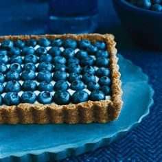 Honeyed Yogurt and Blueberry Tart for 4th of July. Wow. | Food & Wine