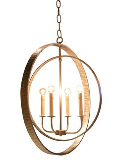The Jessica chandelier with concentric rings by Bradley.