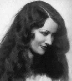 Gloria Swanson as a beautiful young silent film star.