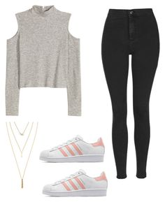 """""""Untitled #517"""" by hannahjoyjacob on Polyvore featuring Topshop, Jules Smith, adidas Originals, women's clothing, women, female, woman, misses and juniors"""