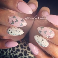 Mini Mouse Pink Acrylic Nails