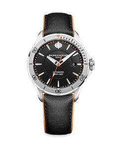 Baume & Mercier Clifton Club 10337 Stainless Steel & Leather Strap Watch