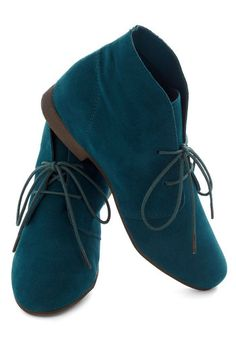 Dashing to Bootie in Deep Teal, #ModCloth