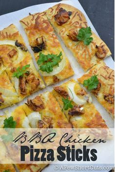 Try this easy and delish BBQ Chicken Pizza Sticks Recipe for the next big game or get together