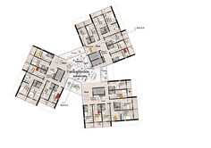 University of Southern Denmark Student Housing Winning Proposal / C.F. Møller Architects,5th floor plan