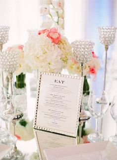 Romantic and Chic Wedding Table Settings