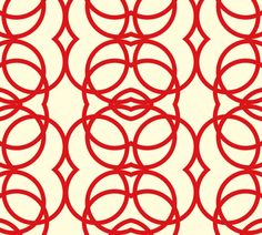 Accent pillow option: red_circles fabric by holli_zollinger on Spoonflower.