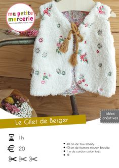 Tuto Gilet de Berger Pour Enfant by Ma petite Mercerie Girl Dress Patterns, Blouse Patterns, Skirt Patterns, Gta 5, Maxi Dress Tutorials, Fleece Hats, Baby Couture, Kids Outfits, Crochet Patterns