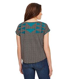 THML Tribal Embroidered Top  - cardigan idea collection -