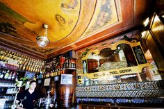 Interior of Antigua Casa Angel Sierra. This has been the site of many a great conversation with Spanish friends.  #SpanishFood