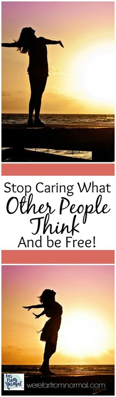 Do you find yourself worried what other people think? Maybe you're afraid to step out of your comfort zone or try something new for fear of judgement or criticism. What if you could be free of that? Free to stop caring what other people think and live your life for you?