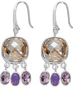 Pretty Swarovski Crystal drop earrings from Argos are part of the Gatsby Girl 1920s flapper look from Argos. With soft colours they'll complete any vintage outfit.