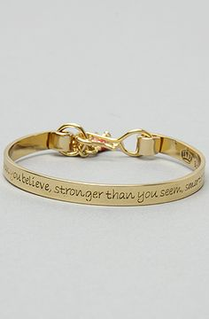 "Disney Couture Jewelry The Pooh Collection Bangle Charm Bracelet   ""You are braver than you believe, stronger than you seem, smarter than you think"""