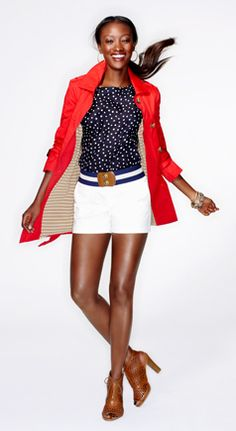 the right red and navy always make such a great outfit