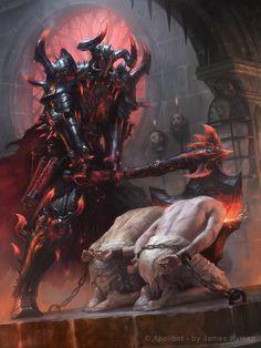 Artist: James Ryman aka namesjames - Title: cassios the executioner adv - Card: Cassios the Executioner (Somber)