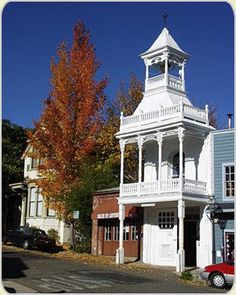 The historic firehouses of Nevada City, CA.