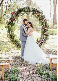 10 Giant Wedding Wreaths: The Hottest Wedding Trend: Colorful floral wreath for a summer or spring wedding ceremony Wedding Ceremony Ideas, Wedding Themes, Wedding Decorations, Wedding Reception, Arch Wedding, Wedding Outdoor Ceremony, Wedding Events, Wedding Backdrops, Wedding Ceremonies