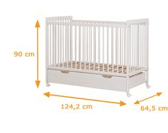 Lambs Collection Cot Bed Dimensions