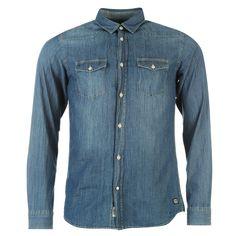 Jack & Jones Originals Retro Denim Shirt #party #christmas #outfit