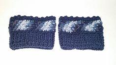 Nell's Blue Boot Cuffs, Nell's Crochet Boot Cuffs, Crochet Boot Toppers