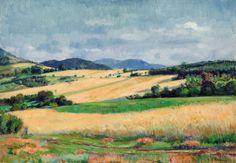 ccc Boldizsár István (1897-1984) - Nyári táj Landscape Paintings, Landscapes, Master Art, Impressionism, Painters, Studios, Artists, Fine Art, Kunst