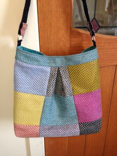 Upcycled Cross Body Bag - upholstery fabric samples