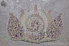 lotus-crown-flower-made-crystals-handmade-frame-elegant-metallic-pink-painted-background