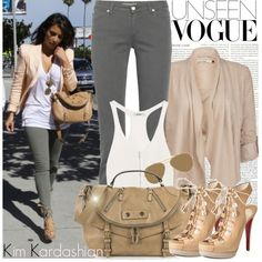 """367. Celebrity Style: Kim Kardashian"" by amber-nicki-rose on Polyvore"