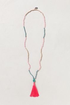 neon plume necklace -- anthropologie