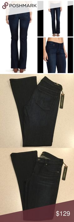 """Citizens Of Humanity Jeans 27X32 Emannuelle Space! Citizens of humanity jeans NEW WITH TAGS! Modeled pictures are of exact fit and wash Emannuelle petite slim Bootcut Space wash (vibrant dark indigo blue) Style # 1485b-927 Size 27 32 inch unaltered petite fit inseam 15"""" across waist, 8"""" rise Super soft medium weight stretchy denim Vibrant dark indigo blue Selling for $215.00! Perfect new condition, no flaws  All of my items come from a smoke free, pet free home and are authenticity…"""