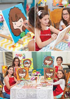 8 year old art party idea Girls 9th Birthday Party Maya Bday