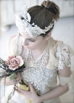 Vintage Lace Wedding Dress. Quirky but still understated. I like!