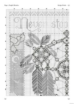 Borduurpatroon Kruissteek Dromenvanger *Embroidery Cross Stitch Pattern Dreamcatcher ~Afbeelding Fragile Miracles 2/6~