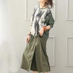 Women Cotton Linen Wide Leg Pants in Green-One Size - Buykud